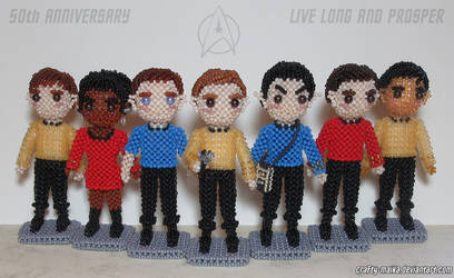 Beaded cast: Star Trek - The Original Series by crafty-maika