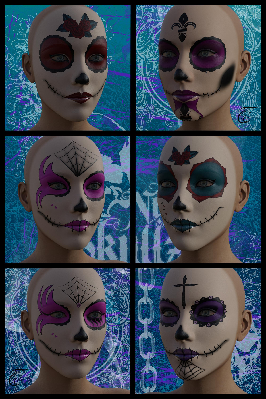 Makeup Skull For G8f Daz Freebie By