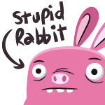 Stupid Rabbit by cronobreaker