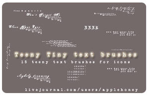 Teeny Tiny Text Brushes by thiselectricheart