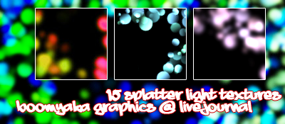Neon Splatter Light Textures by luminosus