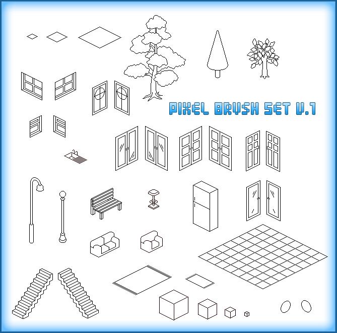 Random Isometric Pixel Brushes by xluluhimex