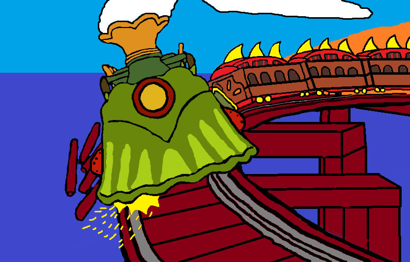 runaway train clip art