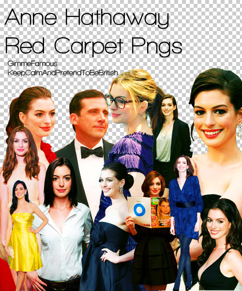 Anne Hathaway Red Carpet Pngs By GimmeFamous On DeviantArt