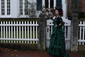 Stock - Victorian Lady house side view 2