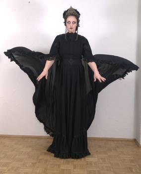 Stock - Dark sorceress cape wings 1