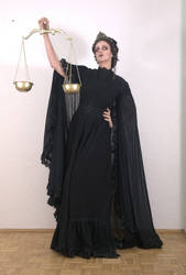 Stock - Dark Justicia Art Nouveau gothic epic pose by S-T-A-R-gazer