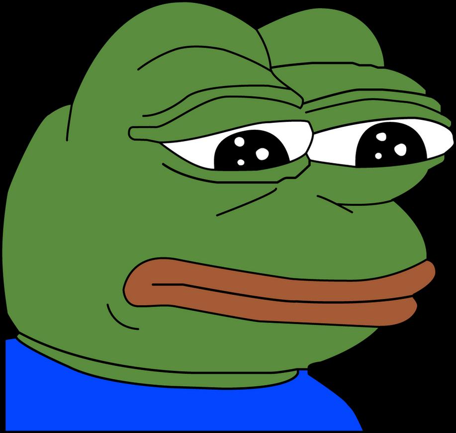 sad pepe feels bad man vector by hirussai on deviantart rh deviantart com Pepe Frog Meme Smug Pepe Frog