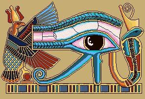 Eye of Horus X-Stitch Design by butterpaw