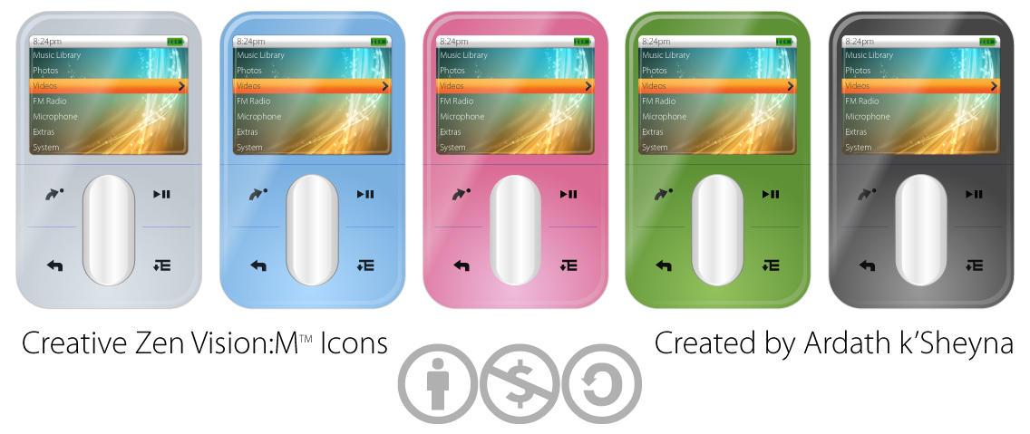 Creative Zen VisionM Icons