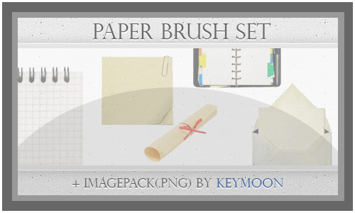 Paper Brushes Set + Imagepack by KeyMoon