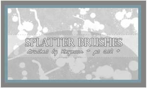 Splatter Brushes Set