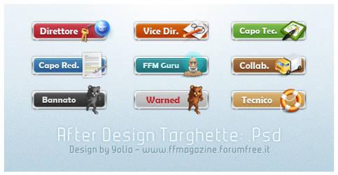 After Design Targhette