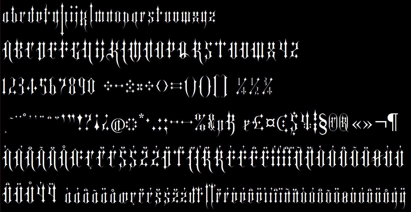 Kuroshitsuji Font: Kurayami by elisadevelon