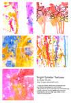 Bright Splatter Textures