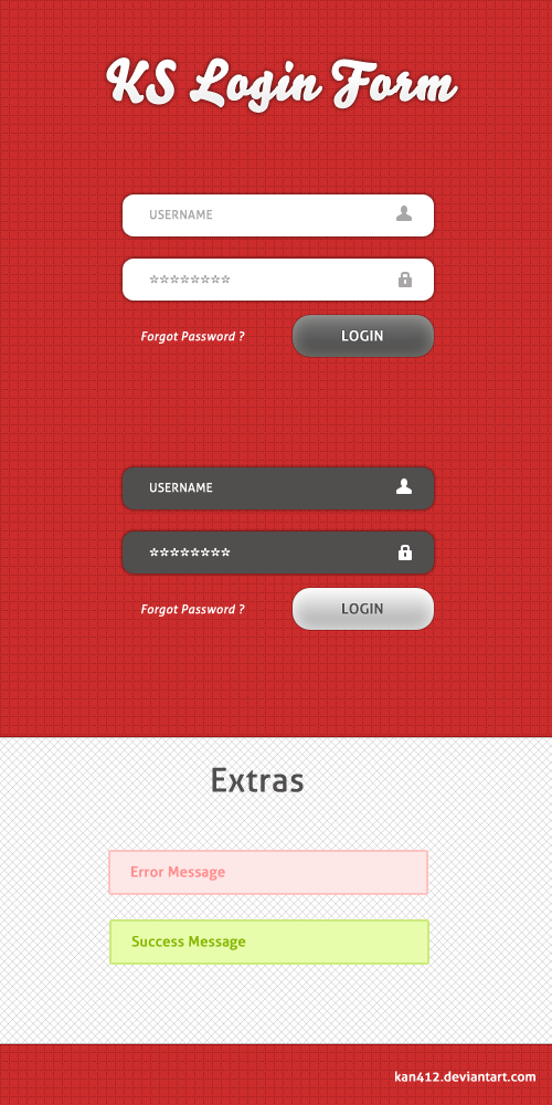 KS Login Form PSD by Kan412