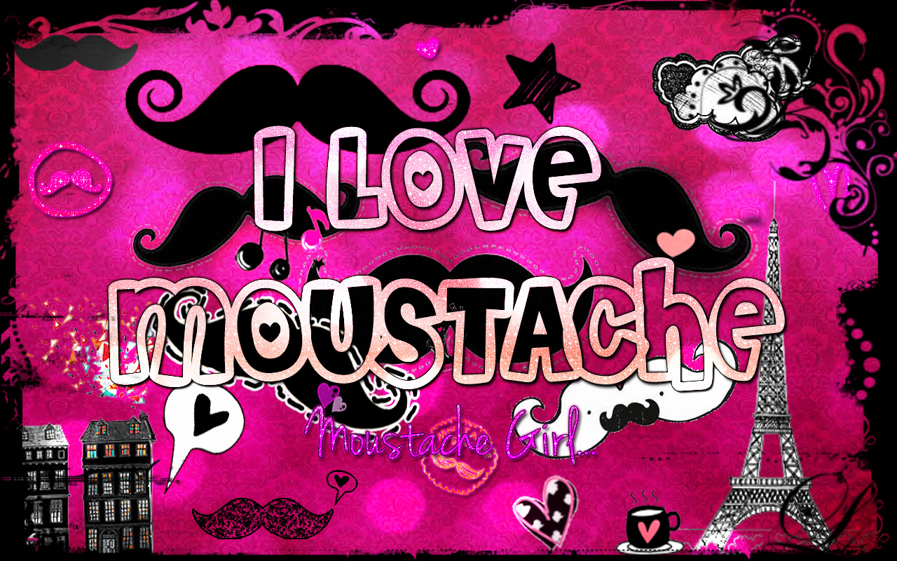 Google themes pink and black -  Mustacheeediitions Moustache Black And Pink Theme Google By Mustacheeediitions