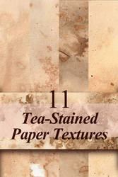 Free Tea-Stained Paper Textures by LuxDani