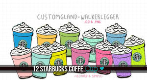 Starbucks Coffe cup, png and ico.