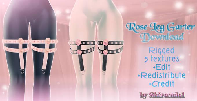 Rose Leg Garter [Download] - for MMD