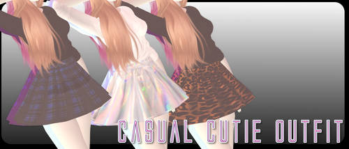 Casual Cutie Outfit - MMD Download by Shiremide1