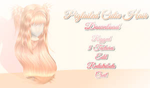 Pigtailed Cutie Hair - MMD Download