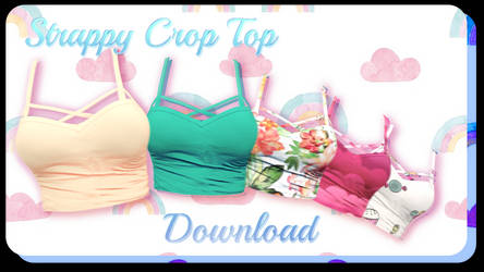 Strappy Crop Top - MMD Download