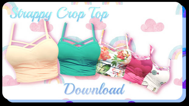 Strappy Crop Top - MMD Download by Shiremide1