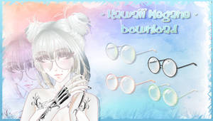 Kawaii Megane - MMD Glasses Download