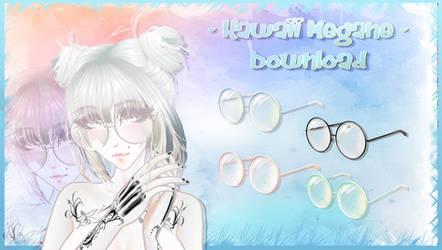 Kawaii Megane - MMD Glasses Download