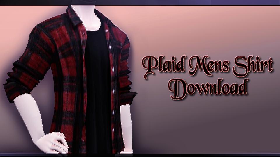 Plaid Mens Shirt - MMD Download