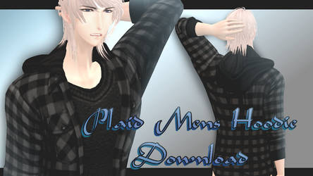 Plaid Mens' Hoodie - MMD Download