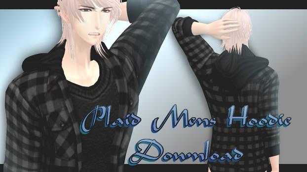 Plaid Mens' Hoodie - MMD Download
