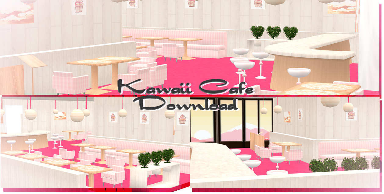 Kawaii Cafe   MMD Download By Shiremide1 ...