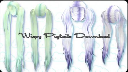 Wispy Pigtails - MMD Download