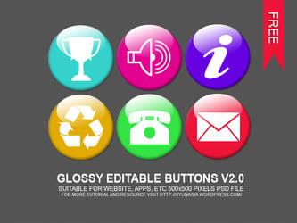 Glossy Editable Button V2.0