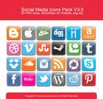 Social Media Icons Pack V3.0