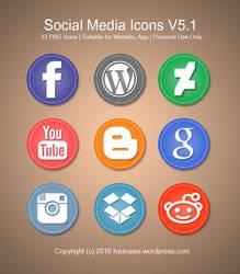 Social Media Icons Pack V5.0