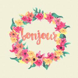 [DL] HQ PNG Watercolor Flower Wreath 01