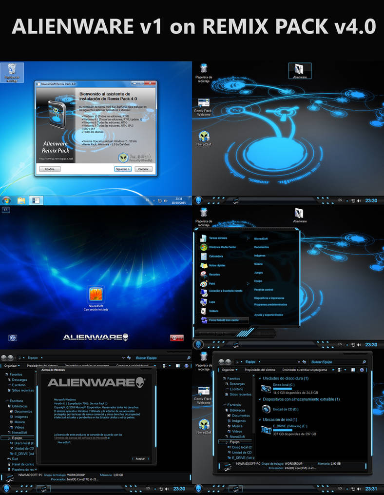 Alienware v1 on Remix Pack 4.0 (Customizable Pack)