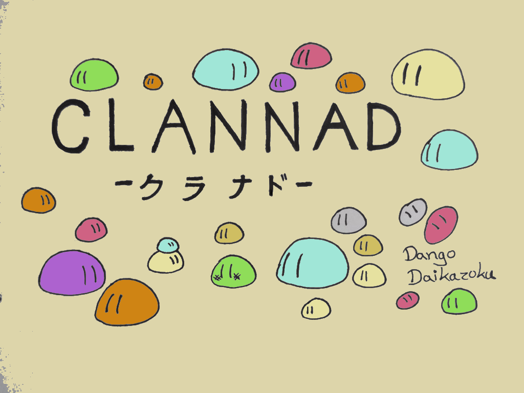 clannad wallpaper cute dango