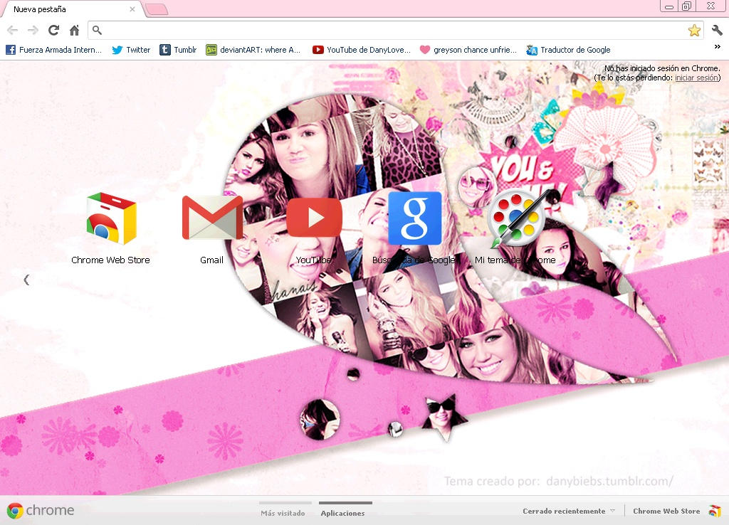 Miley Cyrus Tema para Google by NeedAnotherStory