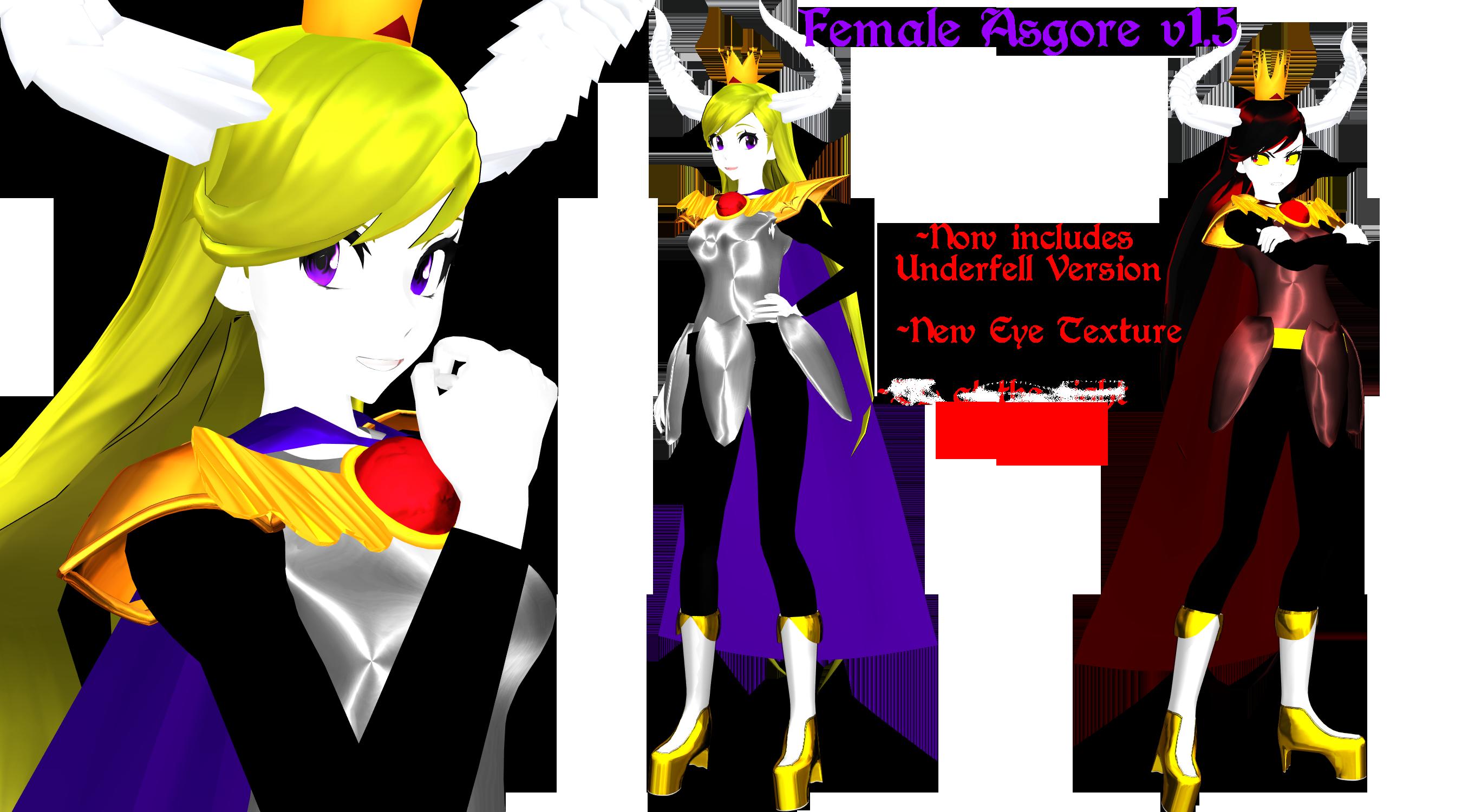 Female Asgore v1.5 Download by DrStinger