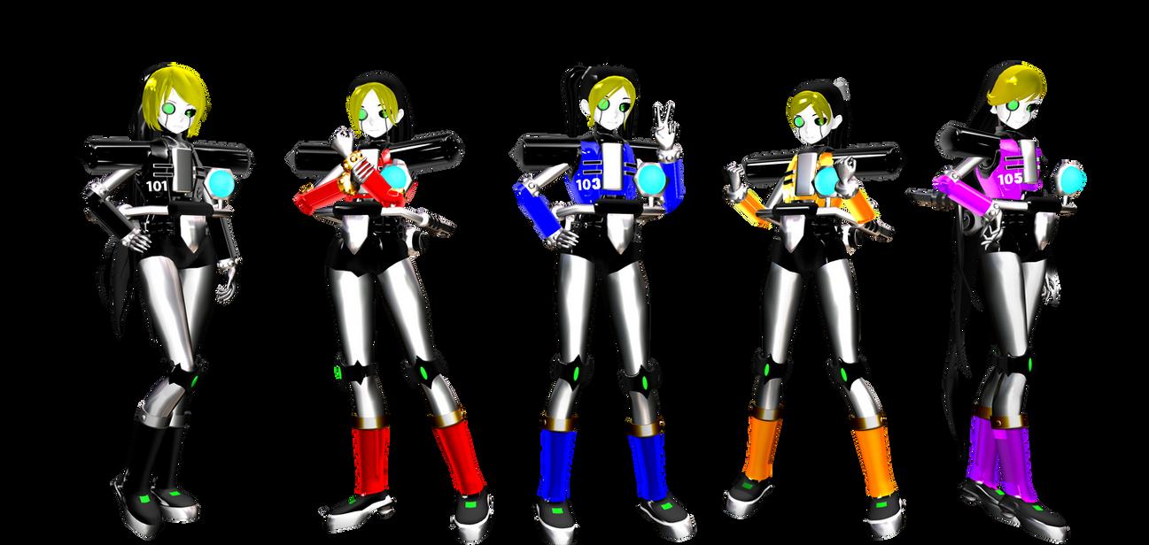 Dr. Eggman's Gender bent E-Series Pack DL (Sonic) by DrStinger
