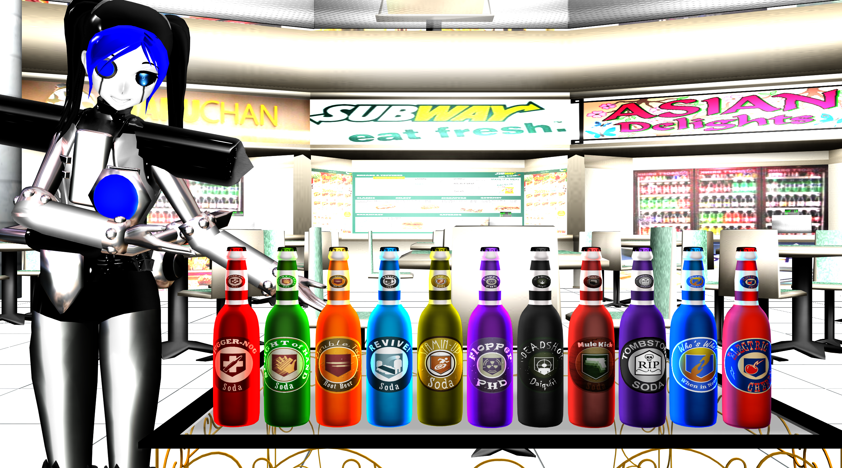 [MMD] Perk-a-Cola Bottles DL (COD Zombies) by DrStinger