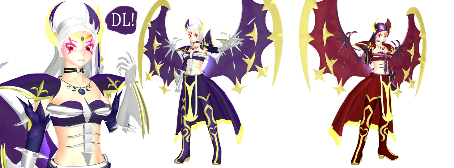 [MMD] Lunala Gijinka v1.5 DL(Pokemon Sun and Moon) by DrStinger