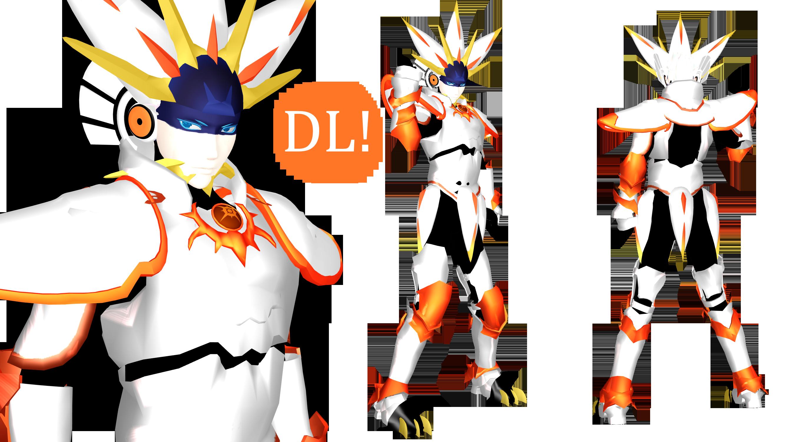 [MMD] Solgaleo Gijinka DL (Pokemon Sun and Moon) by DrStinger