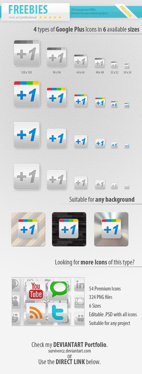 FREE Google Plus Icons by survivorcz