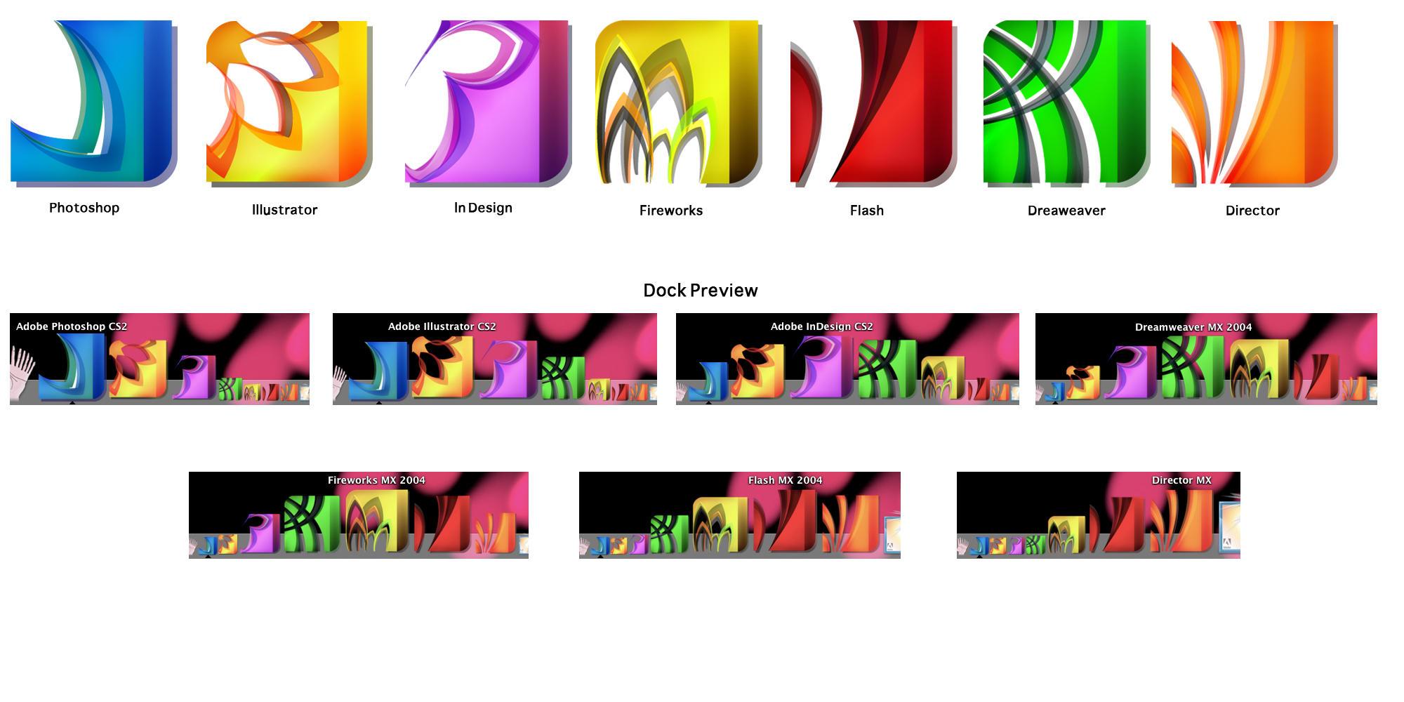Adobe Programs Icons For Mac By Silverartemisia On Deviantart