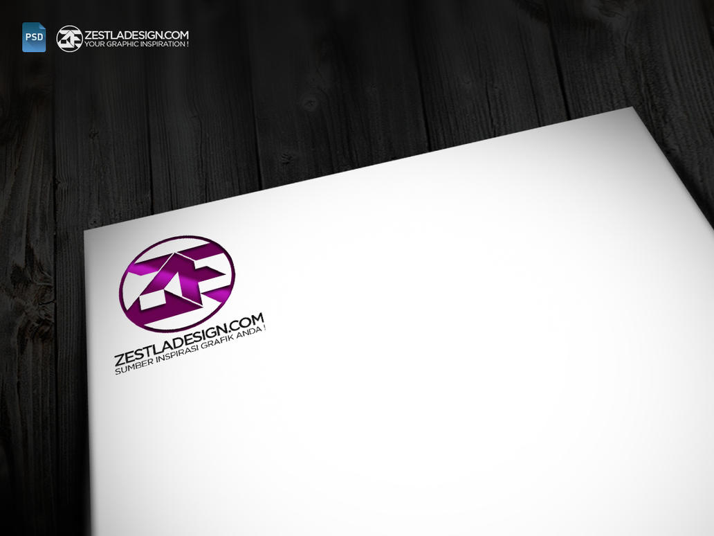 Logo Color Mockups Letterhead Paper (FREEBIES) By Zestladesign ...
